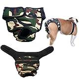 Weiblich Hunde Schutzhose Haustier Unterhose Unterwäsche Welpenhose Hose für Große Hunde Läufigkeit L