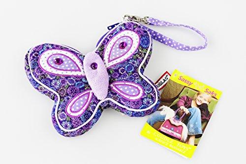 Hochwertig verarbeitete Marken - Geldbörse , Portemonnaie , Geldbeutel für Kinder , Mädchen und Jungen , in jedem Alter , ab 3 Jahren , Markenqualität von DOUGLAS zum Verstauen von Geld, einem Pass oder Busfahrkarten - praktische Größe und tolles Motiv - großes Reißverschlussfach für Münzgeld und praktische Handschlaufe zum sicheren Tragen - individuell nutzbar und konfortabel - angenehme Größe und Form, hier ein tolles Motiv (Schmetterling / Butterfly)