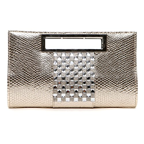 Diamante donne di personalità adatta la frizione pochette borsetta di coccodrillo femminile ad alta capacità borsa ( Colore : Arancia ) Oro