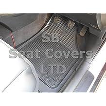 Toyota Corolla–Alfombrillas de goma PVC–de profundidad bandeja negro 5piezas rm501