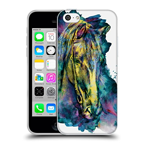 Ufficiale Riza Peker Gufo Animali Cover Morbida In Gel Per Apple iPhone 6 / 6s Cavallo