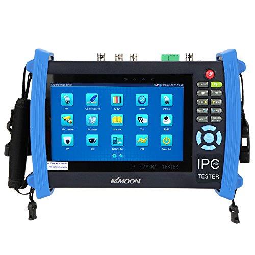 KKMOON 7 Zoll CCTV Onvif IP Kamera Tester Touch Screen Monitor SDI/AHD/TVI/CVI HDMI 1080p/PTZ/POE/WIFI/FTP Server/IP Scan/Port blinken/DHCP IPC-8600ADHS