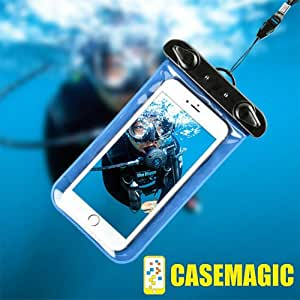 CASEMAGIC Waterproof Pouch with IPx8 technology for all mobiles screen upto 5.5 inches