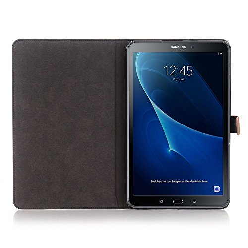 Samsung Galaxy Tab A 10.1 Fall, TechCode® PU LUXUS LEDER HÜLLE Für Samsung Galaxy Tab A 25,7 cm (2016 Version sm-t580 N sm-t585 N) – mit integriertem Ständer/Smart Cover Auto Wake & Sleep - 6