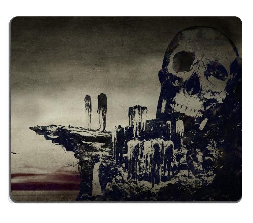 Skull And Crossbones Artistic Design Mouse Pads Customized Made to Order Support Ready 9 7/8 Inch (250mm) X 7 7/8 Inch (200mm) X 1/16 Inch (2mm) High Quality Eco Friendly Cloth with Neoprene Rubber Luxlady Mouse Pad Desktop Mousepad Laptop Mousepads Comfortable Computer Mouse Mat Cute Gaming Mouse pad