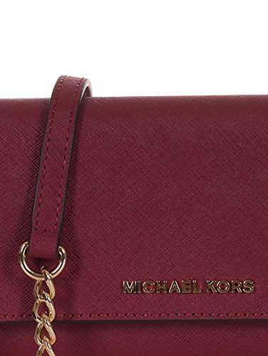 Tracolla donna Michael Kors crossbodies mulberry in pelle Bordeaux