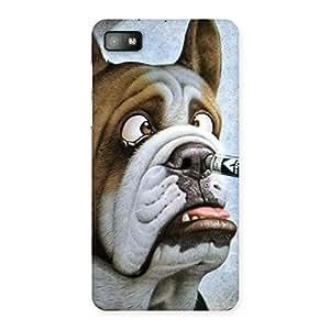 Big Face Dog Back Case Cover for Blackberry Z10