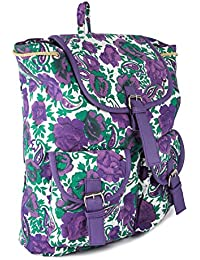 Deal Especial Purple Flower Printed Backpack Bag Gift & Sales 193