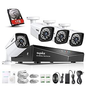 seguridad videovigilancia: SANNCE Kit Sistema de Seguridad XPOE 1080P 4CH NVR y 4 IP Cámaras de vigilancia ...