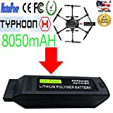 MaximalPower Gifi Power YUNEEC 8050mAh 4S High Power LiPo Flight Battery for Typhoon Q500, Q500+, Q500 4K, Typhoon G quadcopters and Q500 Drone (8050mAh 4S LiPo Battery-Type H)