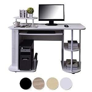 Sixbros scrivania porta pc bianco s 104 2081 - Porta computer bianco ...