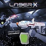 Laser X Pistola Largo Alcance (Cife 98139), Color Blanco y Gris