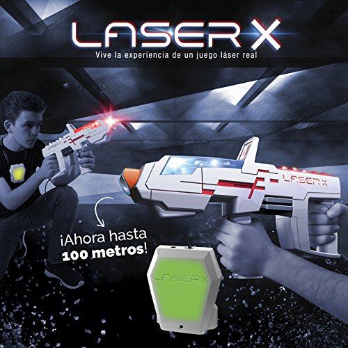 Laser X- Pistola Largo Alcance (Cife 98139), Color Blanco y Gris (Spain
