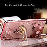 Best I Phone 6 Case For Girls - KC Adorable Heart Ring Stand Case Soft Transparent Review