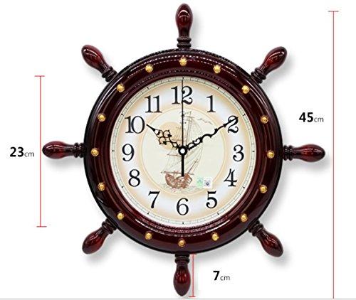 Y & M timone-stile salon mural horloge créatif mode quartz silenziato Décoration 2646 wood color
