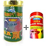 Goofy Tails- XO Humpy Head Flower Horn Breeds Fish Food (280ml) With Toya Blood Worms (5gm)