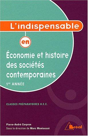 Economie et histoire des sociétés contemporaines 1e année HEC