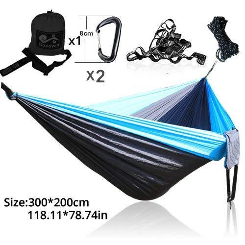 Bureze 300 * 200 cm 2 Personnes Hamac 2018 Camping Survie Jardin Chasse Leisure Travel Double Personne Parachute Portable hamacs