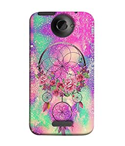 PrintVisa Designer Back Case Cover for HTC One X :: HTC One X+ :: HTC One X Plus :: HTC One XT (Abstract Dream Catcher Beauty Creativity Bloom Blossom Beautiful Pink)