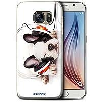 Stuff4 Hülle / Hülle für Samsung Galaxy S6/G920 / Hund Köpfhörer Muster / Lustige Tiere Kollektion