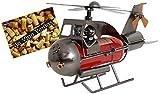 Brubaker Weinflaschenhalter 'Paar im Hubschrauber' - Metall - Skulptur Geschenk mit Geschenkkarte
