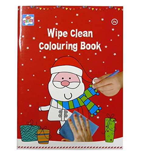 A4 Kinder Weihnachten Wischen Sauber Färbung Buch - von Kids Create