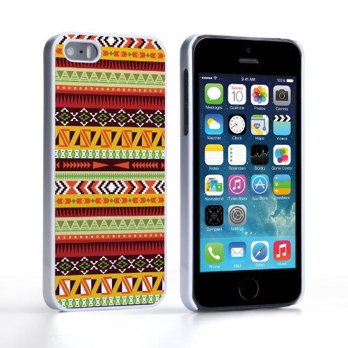 Caseflex Coque iPhone 5 / 5S Etui Aztec Terreux Motif Dur Housse