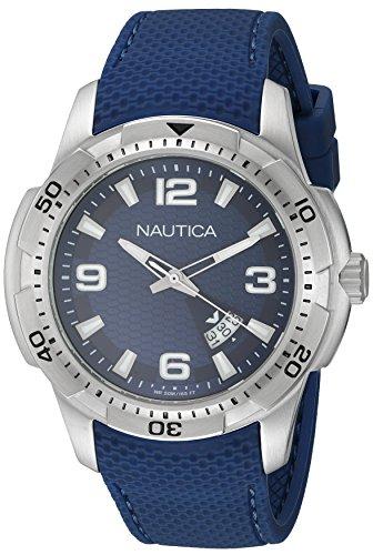 Orologio  Quarzo Nautica display analogico cinturino Silicone  e quadrante   NAI12522G_Blu