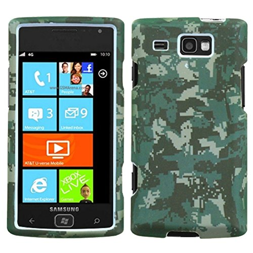 Camo Handy-faceplates (MyBat Schutzhülle für Samsung i677 Focus Flash Lizzo, Digital Camo/Green)