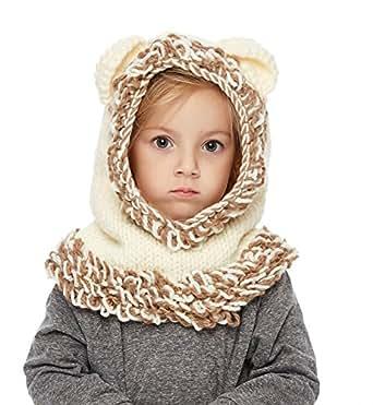 speciale per scarpa Los Angeles sito autorizzato Sumolux Cappelli in maglia da Bambini Invernale Berretto Volpe Animale  Caldo Coif Cappuccio Sciarpa