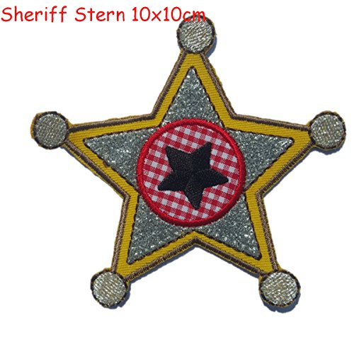2-iron-on-appliques-set-sheriff-star-9x10cm-and-cheeky-monster-7x6cm-embroidered-application-set-by-