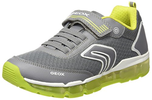 Geox Jungen J Android Low-Top A Sneaker, Grau (Grey), 29 EU (Jungen Sportschuhe)
