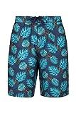 Mountain Warehouse Ocean Printed Mens Boardshorts - Quick Drying Swim Shorts, 2 Side Pockets Beach Shorts, Internal Mesh Swim Trunks - for Surfing & Swimming Navy Large