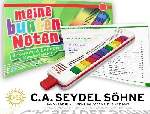 Seydel TRIOLA 12 Bundle - mit NEUEM UMFANGREICHEN KINDERLIEDERBUCH. Auch geeignet für den Einstieg auf Keyboard, Melodika oder Klavier!