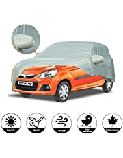 AllExtreme AK7003 Car Body Cover for Maruti Suzuki Alto K10 Custom Fit Dust UV Heat Resistant for Indoor Outdoor SUV Protection (Silver with Mirror)