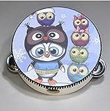 Baby- und Kleinkindspielzeug 15CM Pinguin Eule Tamburin Kinder Performance Requisiten musikalische Handtrommel