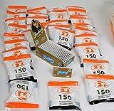 Lot de 25 Carnets De 120 Feuilles à Rouler, SMOKING 3000 Feuilles + 34 Sachets de 150 Filtres 2J, 5100 Filtres Cigarettes 2J