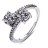 Best Romantic Time Friend Infinity Rings White Golds - Silver Plated Ring for Women Ring Jewelry Anniversary Review