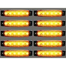 24/7Auto L0051 Marcador Luces Laterales para Camión LED 24 V, ámbar, 10 Piezas
