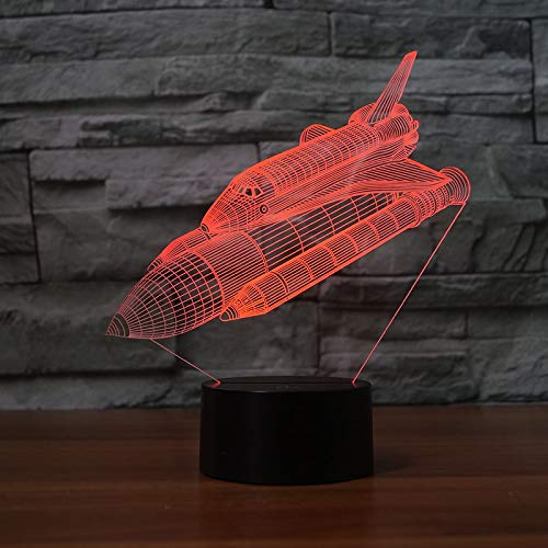 Space Shuttle Touch Lampada da tavolo Sostituzione di colore Lampada Luce Novità Lampada da notte a go
