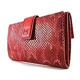 Cartera para mujer, hecho a mano en España, marca casanova, hecha en piel de vacuno, Ref. 22718 Rojo