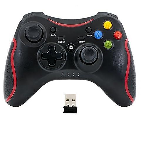 QUMOX Wireless Remote Pad Game Controller/Regler für PC Windows 7 XP Joypad Schwarz