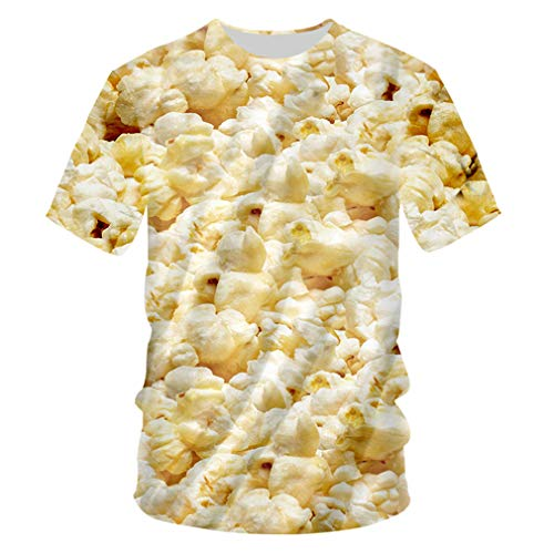 Krieger Kostüm Adler - T-Shirt Sommer O Neck 3D T-Shirt Druck Popcorn Persönlichkeit 7XL Kostüm Sommer T Shirts W Popcorn 4XL