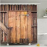 Cortina de ducha de baño impresión poliéster impermeable y moho cortinas sombra