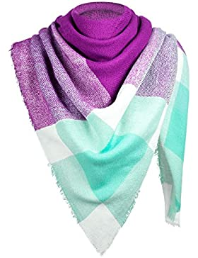 De la Mujer de invierno bufanda bufanda otoño Otoño / Invierno bufanda de gran tamaño de color púrpura / turquesa...