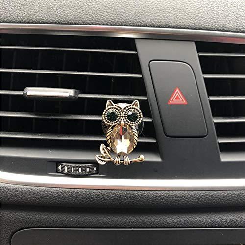 FASHLADY Belle Gufo Metallo modellazione Clip di Profumo Decorazione del condizionatore d'Aria Automobile Carino modellazione Deodorante per Auto Profumo: B