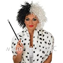 Evil Lady Wig Cruella Movie Fancy dress