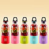 elegantstunning Saft Mixer Entsafter 500ML Wiederaufladbare Tragbare Saft Tasse (Farbe Zufällig)