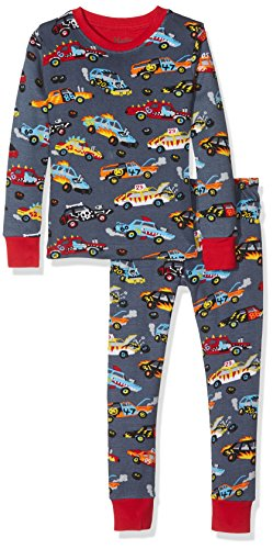 Hatley long sleeve printed pyjama set, pigiama bambino, monster cars, 8 anni