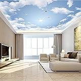 Tapeten Wallpaper blauer Himmel und weiße Wolke 3D benutzerdefinierte Wand Dekoration Café/Esszimmer/Wohnzimmer/TV Wand/Schlafzimmer/Sofa Hintergrund